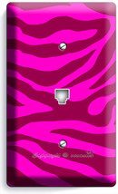 Hot Pink Zebra Stripes Animal Prints Phone Telephone Wall Plate Cover Room Decor - $10.52