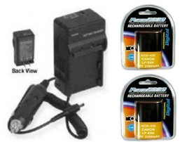 2X Batteries + Charger for Canon EOS 7D, EOS 7D Mark II, EOS 6D, EOS 6D ... - $50.37