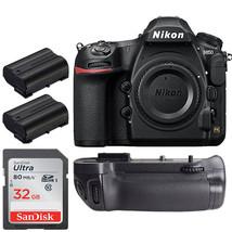 Nikon D850 DSLR Camera w/  Battery Grip +32GB Top Accessory Bundle - $3,361.05