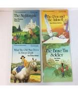 Four Hans Christian Andersen 1988 HC Books Brave Tin Soldier The Nightin... - $18.69