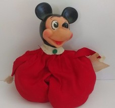 Vintage Walt Disney Mickey Mouse stuffed Bean Bag toy Gund J. Swedlin New York - $90.52