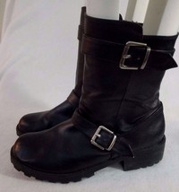 Dirty Laundry Womens sz 6 6M Black Boots Faux Leather Taylor Style Short... - $18.33