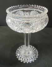 American Brilliant Period Comport cut glass flared - $138.97