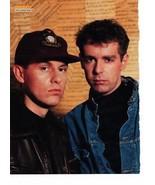 Pet Shop Boys teen magazine pinup clipping Vintage 1980's Bravo Tiger Be... - $3.50