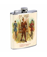 Vintage Cigar Box Poster D8 Flask 8oz Stainless Steel Hip Drinking Whiskey - $13.81
