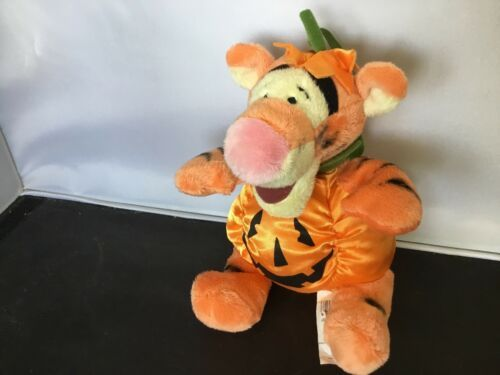 "Primary image for Disney Store 7"" Tigger Halloween Pumpkin Plush NWT K03"