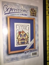 BUCILLA A house full of friends is a house full of Love Counted Cross st... - $6.50