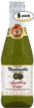 Martinelli's Gold Medal Sparkling Cider, 8.4 OZ Jar Pack of 6, Total of 50.4 Oz
