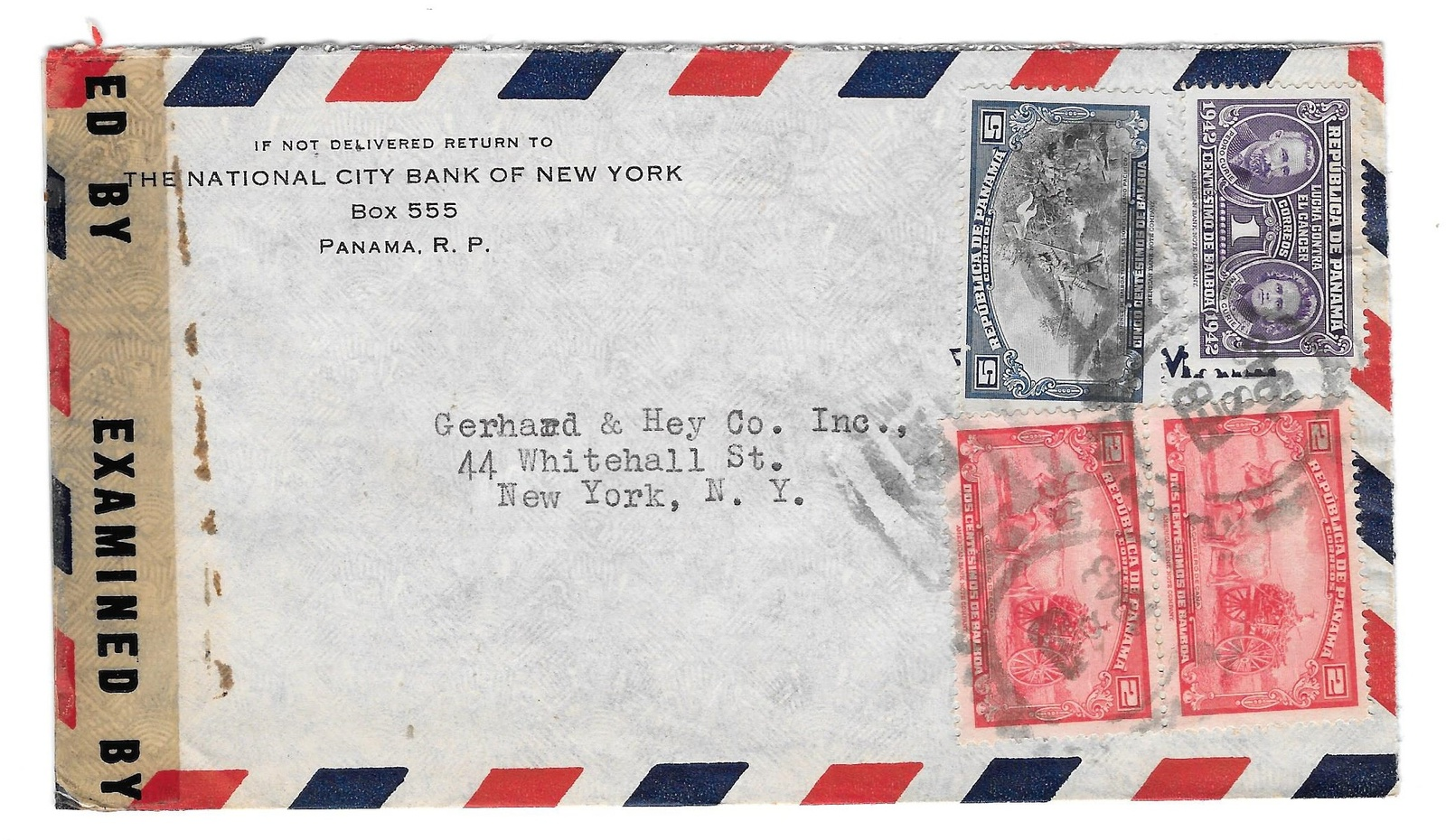 97 corner card international city bank of new york panama