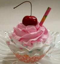 Strawberry Milkshake Pink Cupcake Decoration Fake Cake faux display - $8.41