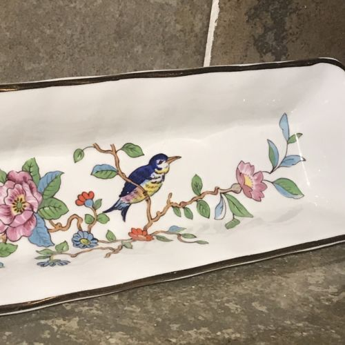 "Aynsley Bone China Pembroke Dish Knife Olives Bird of Paradise 8.5"" A1790"