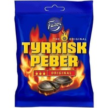 Fazer Turkisk Tyrkisk Peppar 150g 5 oz Hot Licorice Pepper Candies Candy - $6.85