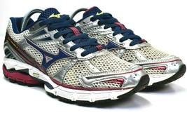 Mizuno Women's Wave Inspire 8 Blue Burgundy Silver Running Shoes Size 9 - $23.76
