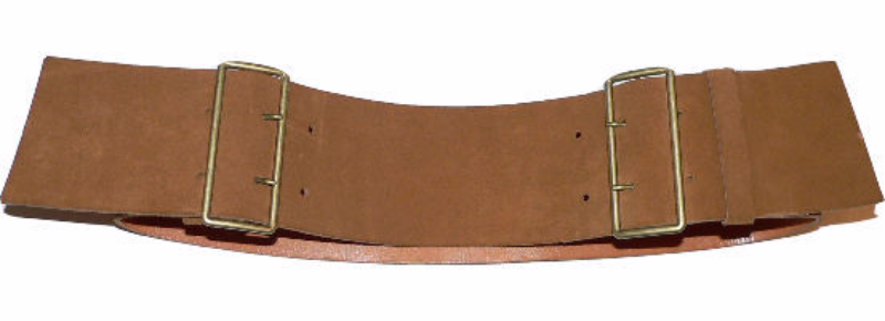 "Vintage MIU MIU Prada 3"" wide suede leather belt 85/34 British tan 2 buckle"