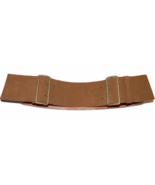 "Vintage MIU MIU Prada 3"" wide suede leather belt 85/34 British tan 2 buckle - $169.99"