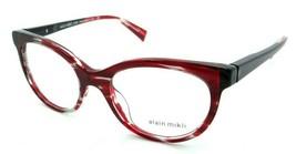 Alain Mikli Rx Eyeglasses Frames A03078 006 51-18-140 Red Clear / Black Dot - $125.44