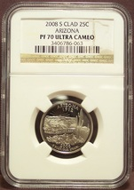2008-S Proof Arizona Washington Quarter NGC PF 70 UC #1052 - $29.59