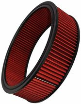 """HIGH FLOW WASHABLE & REUSABLE ROUND AIR FILTER ELEMENT REPLACEMENT 14"""" X 4"""" RED image 8"""
