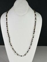 "34"" Vintage Ornate Chain Silver Tone Hand Made Indian Necklace Asian Folk Art - $18.99"