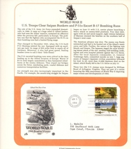 P-51s Formation, World War II, Postal, 1st Day of Issue, 29 cent Stamp - $3.50