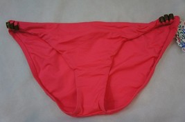 Becca Swim Bottom Sz L Tart Pink Beaded Side American Fit Bikini Pant 79... - $16.44