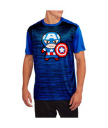 Marvel Kawaii Men's Graphic Poly T-Shirts Captain America Size XLg 46-48... - $9.85