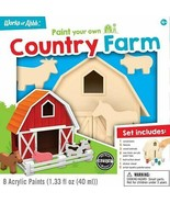 Wood Acrylic Paint Craft Kit Country Farm Works of Ahhh MasterPieces - $27.50
