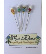 Seasonal Pincushion 3pc Pin Set for Seasonal Pincushion chart Mani di Do... - $16.00