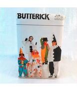 Uncut Child Clown Costume Sewing Pattern S-XL Butterick 4154 G - $3.95