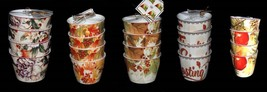 4 222 Thanksgiving Fall Autumn Fruit Appetizer Snack Bowls NWT 5 Designs U-Pick - $24.99