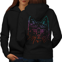 Cat Animal Face Sweatshirt Hoody Kitty Head Women Hoodie Back - $21.99+