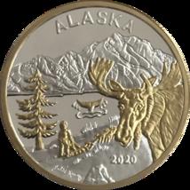 Alaska Mint Official 2020 State Medallion Gold & Silver Medallion Proof ... - $123.74