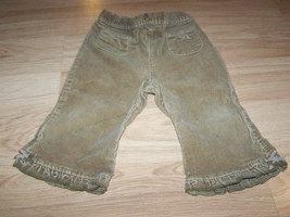 Baby Girls Size 12 Months The Children's Place Brown Tan Corduroy Pants EUC - $12.00