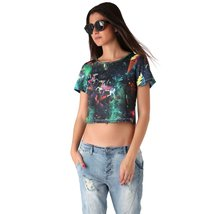 Crop top with illustrated print - $26.00