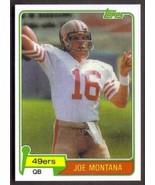 JOE MONTANA Rookie Card RP #216 49ers RC 1981 T Free Shipping - $2.95