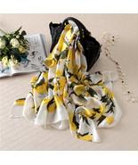 Lemon Scarf Women Cute Oversize Pure Silk Scarves Bandana Foulard Big Lo... - $21.25