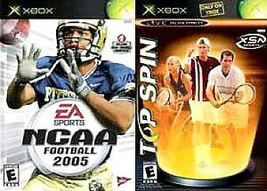 X-BOX LIMITED EDITION Game - NCAA FOOTBALL 2005 / TOP SPIN Combo - EUC! - $9.99