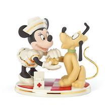 Lenox Disney Nurse Minnie with Pluto Figurine Mouse Bandages Cap First A... - $97.74