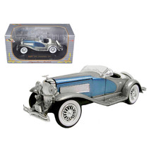 1935 Duesenberg SSJ Blue/Silver 1/32 Diecast Model Car by Signature Mode... - $32.87