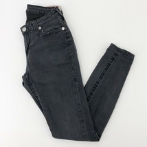 Women's True Religion Black Curvy Skinny Leg Jeans sz 28 - $47.30