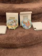 """AVON 1992 1993 PORCELAIN EASTER PLATE """"COLORFUL MOMENTS"""" """"EASTER PARADE"""" - $12.00"""