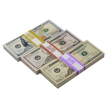 PROP MOVIE MONEY - New Style Mix $17,000 Full Print Prop Money Package - $59.99