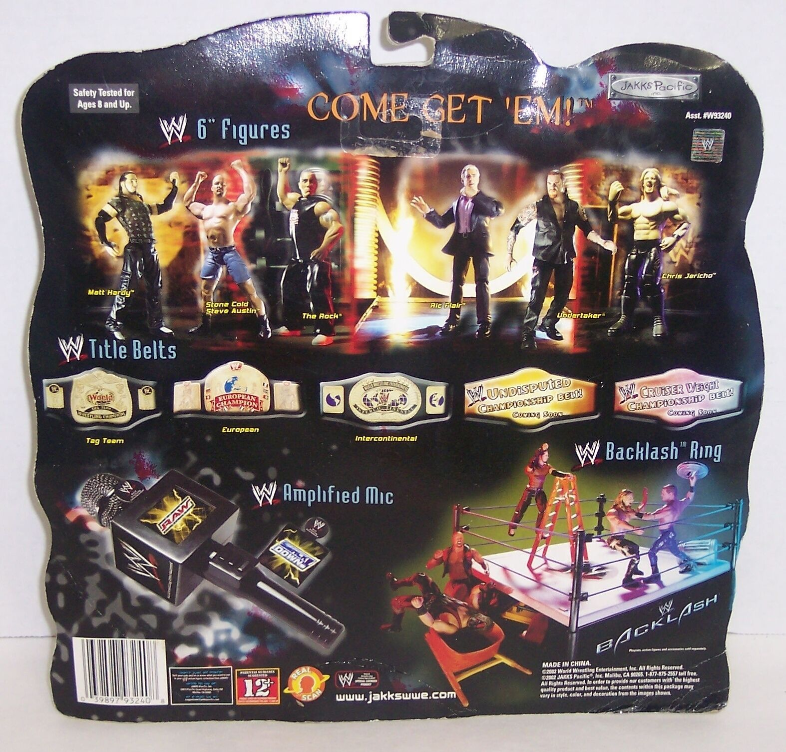 "2002 Jakk's WWE Rigside Rivals ""Undertaker"" vs ""Hogan"" Action Figure Set {1496}"
