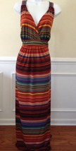 New Direction Maxi Zig Zag Multi-Color Long Sleeveless Dress Plus Size 2... - $38.14