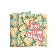 [Love Banana] Light Thin Short Wallet Handcraft Cotton Canvas Wallet (3.73.1'')
