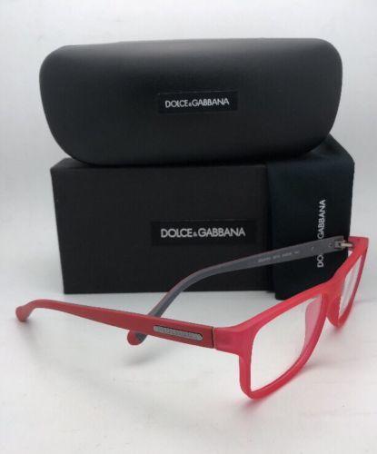 2aa422e2a1b New DOLCE   GABBANA Eyeglasses DG 5009 2812 54-16 Red   Grey Rubberized  Frames