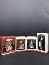 NIB Vintage Lot Of 4 Mattel Hallmark Collectors Series Holiday Barbie Or... - $37.40