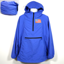 LL Bean Anorak Nylon Rain Windbreaker Jacket XL USA Patch Hooded Pullove... - $39.99