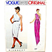 Vintage Uncut Vogue Paris Original Givenchy Greeek 1 Shoulder Draped Gown 2307 6 - $39.99