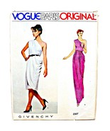 Vintage Uncut Vogue Paris Original Givenchy Greeek 1 Shoulder Draped Gow... - $39.99